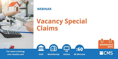 Vacancy Special Claims Webinar tickets