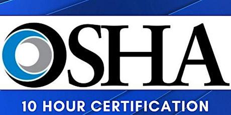 OSHA 10 tickets