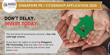 Claim 20% off Your Singapore PR/Citizenship Application. Limited-time Offer tickets