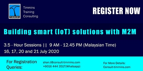 Webinar - Building Smart (Iot) Solutions with M2M tickets