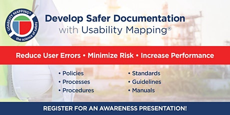 Usability Mapping Awareness Presentation | 1 hour Webinar | Timezone AWST tickets