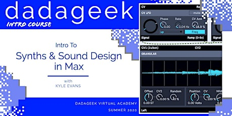 Intro to Synthesis and Sound Design in Max tickets