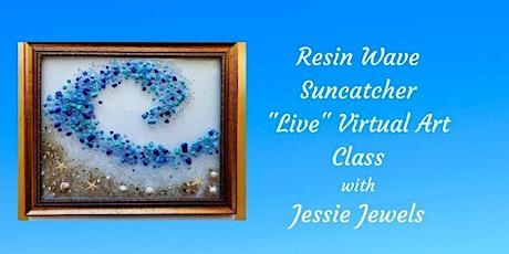 Resin Wave Suncatcher Live Virtual Art Class tickets