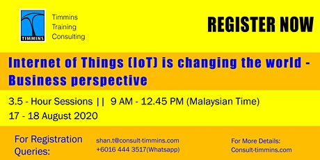 Webinar - Internet of Things/IoT is Changing The World Business Perspective tickets