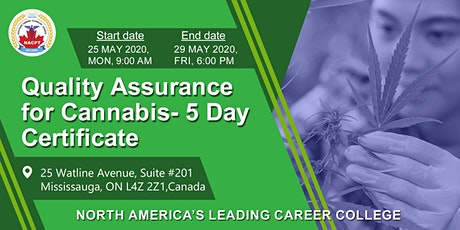Quality Assurance for Cannabis- 5 Day Certification - Online, Interactive Live Webinar tickets