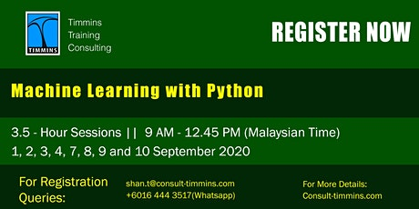 Webinar - Machine Learning with Python tickets