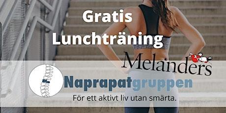 Aktiv lunch - träna gratis på Täby Torg biljetter