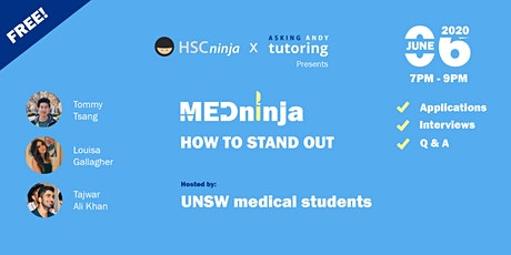 MEDninja: HOW TO STAND OUT -  Hosted by UNSW Medical Students tickets