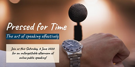 Online Public Speaking Extravaganza - Pressed for Time tickets
