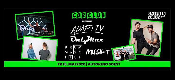 CAR CLUB Disco im Autokino Soest mit Live Show mit Adaptiv, Only Max ...: Bild