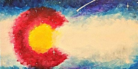 Paint Wine Denver Cosmic Colorado Fri July 3rd 6:30pm $35 tickets