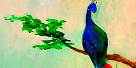 Paint Wine Denver Peacock Feathers Thurs July 9th 6:30pm $35 tickets