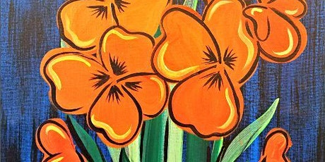 Paint Wine Denver Poppy Bouquet Wed July 8th 6:30pm $35 tickets