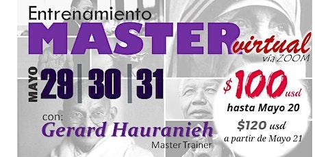 ENTRENAMIENTO MASTER -  VIRTUAL boletos