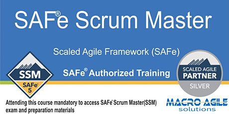 SAFe® Scrum Master with SAFe® 5 Scrum Master Certification- Virtual tickets