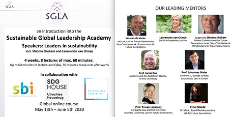 Sustainable Global Leadership Academy 2020 - 8 online lectures via Zoom tickets