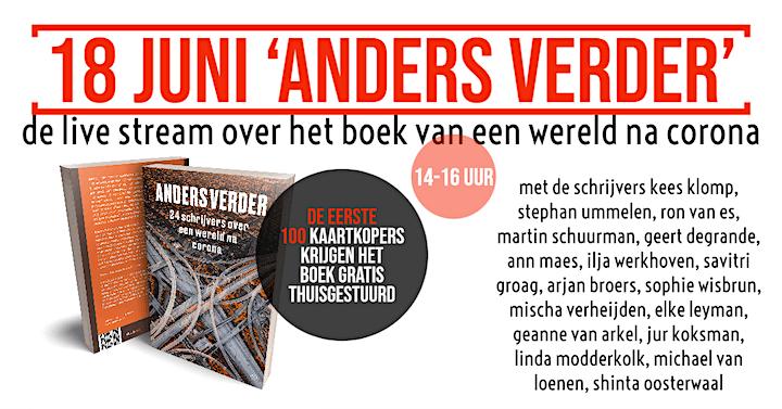 Online boekpresentatie 'Anders Verder', over een wereld na corona image