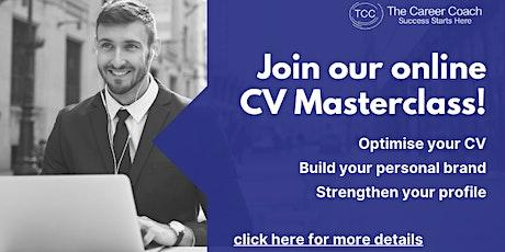 CV MasterClass tickets