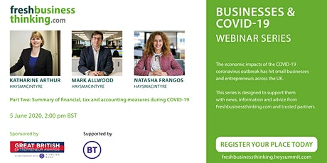 Part Two: Summary of financial, tax and accounting measures during COVID-19 tickets