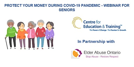 WEBINAR FOR SENIORS - PROTECT YOUR MONEY DURING COVID-19 PANDEMIC tickets