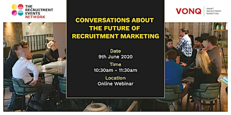 Conversations about the future of recruitment marketing tickets