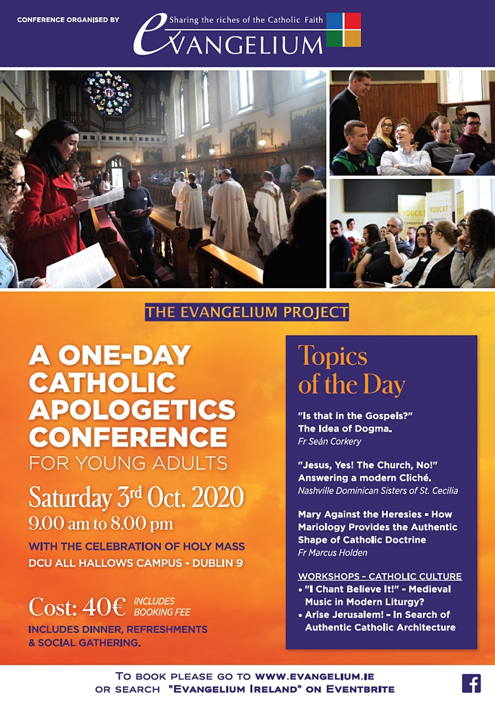 Evangelium Ireland - Catholic Apologetics Conference - Lunch included image