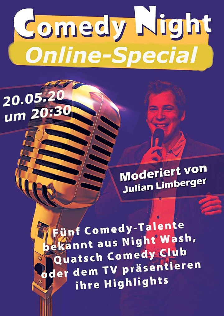 Comedy Night online Unterstützerticket: Bild