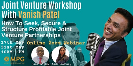 Joint Venture Workshop With Vanish Patel (May 2020) tickets