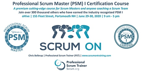 Scrum.org Professional Scrum Master (PSM) I - Portsmouth NH  - June 29-30, 2020 tickets