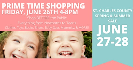 Just Between Friends St. Charles County June 2020 Sale PRIME TIME SHOPPING tickets