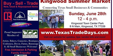 June Kingwood Market | Texas Trade Days tickets