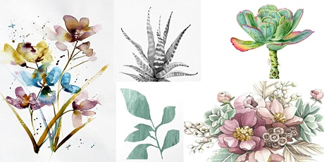Botanical Watercolors- Online Class tickets