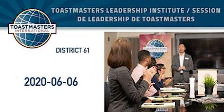 Toastmasters Leadership Institute/Session de leadership de Toastmasters entradas
