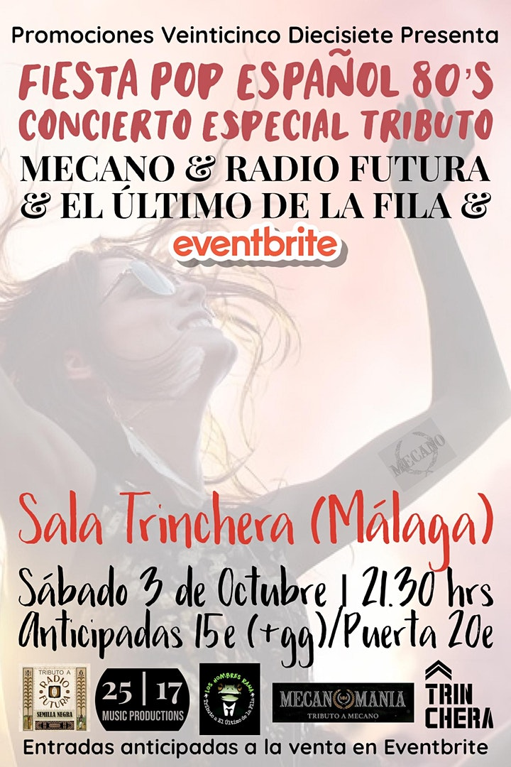 Imagen de FIESTA CONCIERTO ESPECIAL TRIBUTO A MECANO, RADIO FUTURA Y EL ÚLTIMO D FILA
