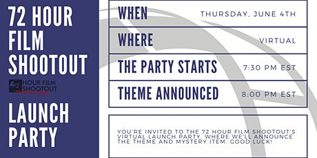 The 16th Annual 72 Hour Shootout Launch Party tickets