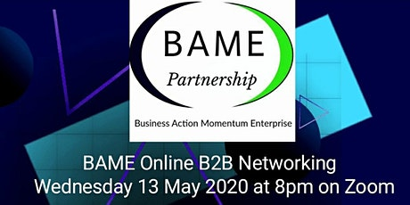 BAME Online B2B Networking tickets