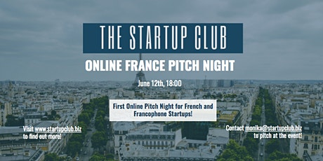 Startup France Club Pitch Night billets