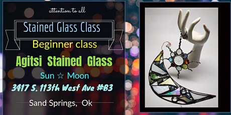 Stained Glass Moon Ornament Class with Agitsi tickets
