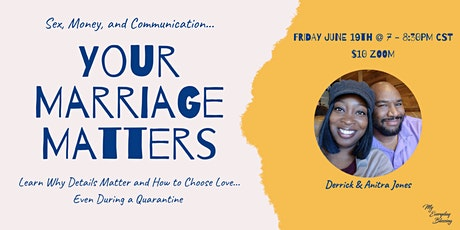 Your Marriage Matters - Sex, Money, and Communication tickets