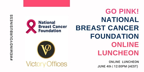 Go Pink! National Breast Cancer Foundation Online Luncheon tickets