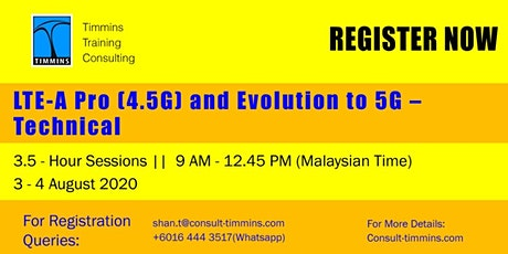 Webinar -  LTE-A Pro (4.5G) and Evaluation to 5G Technical tickets