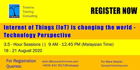 Webinar - Internet of Things is Changing The World-Technology Perspective tickets