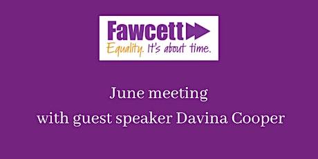 Fawcett East London June 2020 meeting tickets