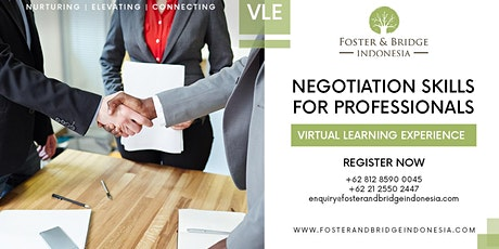 "Virtual Learning Experience ""Negotiation Skills For All Professionals tickets"
