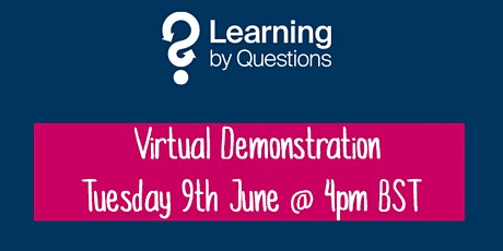 Learning by Questions invites Hartlepool schools to a virtual demonstration tickets