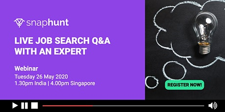 Live Q&A with a job search expert tickets