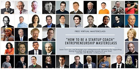 """Become a Startup Coach"" Entrepreneurship MasterClass tickets"