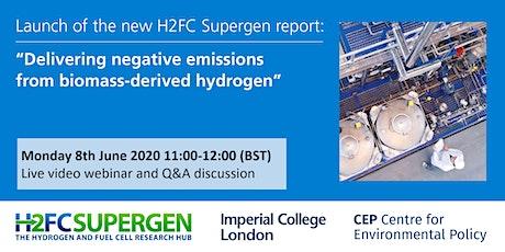 Delivering negative emissions from biomass-derived hydrogen tickets
