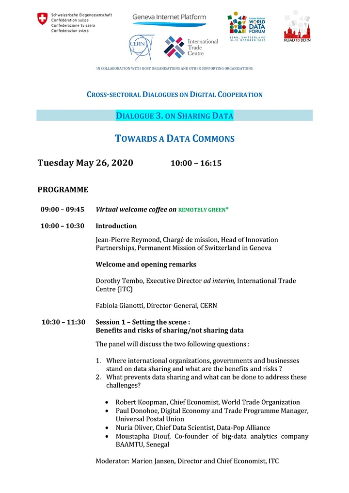Image pour Cross-sectoral Dialogues on Digital Cooperation - Dialogue 3