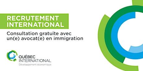 Consultation gratuite avec un(e) avocat(e) en immigration tickets